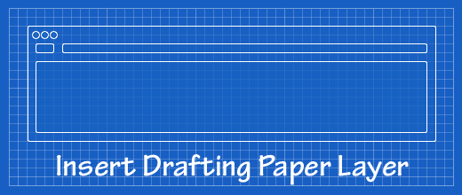 Acorn Plugin to Insert a Drafting Paper Layer
