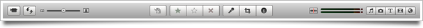 iMovie toolbar